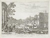 Campo Vaccino (Forum Romanum), 1636, lorrain