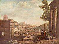 The Campo Vaccino, Rome , 1636, lorrain