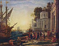 Cleopatra Disembarking at Tarsus, 1642, lorrain