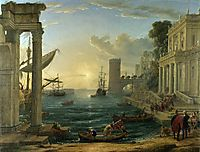 The Embarkation of the Queen of Sheba, 1648, lorrain