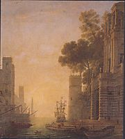 The Embarkation of St. Paula in Ostia, lorrain