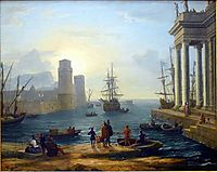 Embarkation of Ulysses, 1646, lorrain