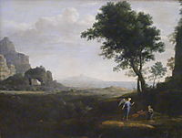 Hagar and Ismael in the desert, lorrain