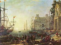 Harbour with Villa Medici, 1637, lorrain