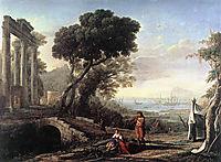 Italian Coastal Landscape, 1642, lorrain