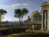 Landscape with Aeneas at Delos, 1672, lorrain