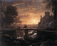 Landscape with an Imaginary View of Tivoli, 1642, lorrain