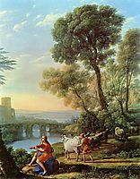 Landscape with Apollo Guarding the Herds of Admetus, lorrain