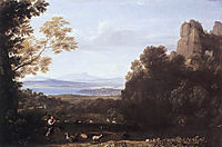 Landscape with Apollo and Mercury, 1660, lorrain