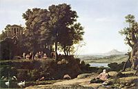 Landscape with Apollo and the Muses, 1652, lorrain