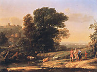 Landscape with Cephalus and Procris Reunited by Diana, 1645, lorrain