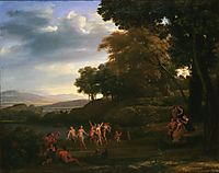 Landscape With Dancing Satyrs and Nymphs, lorrain