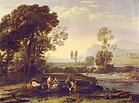 Landscape with the Flight into Egypt, 1647, lorrain