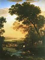 Landscape with Flight into Egypt, 1663, lorrain