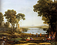 Landscape With The Marriage Of Isaac And Rebekah, 1648, lorrain