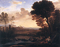 Landscape with Paris and Oenone, 1648, lorrain
