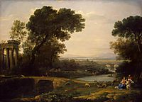 Landscape with the Rest on The Flight into Egypt, 1666, lorrain