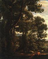 Lorrain Landscape with Goatherd, 1636, lorrain