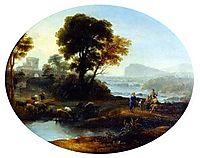 Pastoral landscape, 1647, lorrain