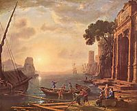 Port at sunset, c.1649, lorrain