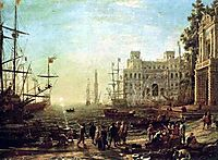 Seaport, 1638, lorrain