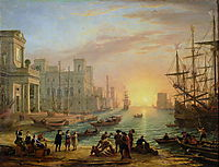 Seaport at Sunset, 1639, lorrain