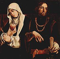 Altar of Recanati polyptych, crowning of the right wing: St. Catherine of Siena, and St. Sigismund, 1508, lotto