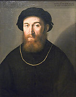 Bust of a Bearded Man, 1541, lotto