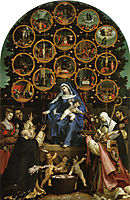 Madonna of the Rosary, 1539, lotto