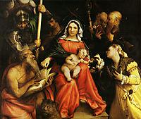 Mystic marriage of Saint Catherine of Alexandria and Saint Catherine of Siena, 1524, lotto