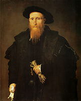 Portrait of a gentleman with gloves, c.1543, lotto