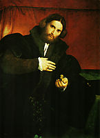 Portrait of a gentleman with lion paw, c.1527, lotto
