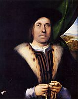 Portrait of a Gentleman with a Rosary, c.1517, lotto