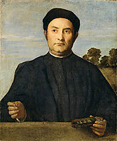 Portrait of a Jeweler, Possibly Giovanni Pietro Crivelli, c.1510, lotto