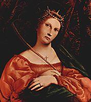 St. Catherine of Alexandria, 1522, lotto
