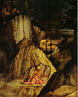 St. Jerome Meditating in the Desert, 1506, lotto