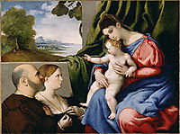 Virgin and Child with Two Donors, lotto
