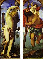 Wings of a triptych: St. Sebastian, St. Christopher, 1531, lotto
