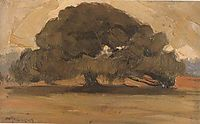 Landscape with Pine tree, lytras