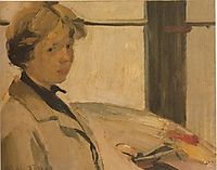 Portrait of painter Maria Hors, lytras