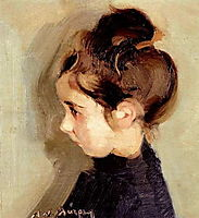 Portrait of a little girl , lytras