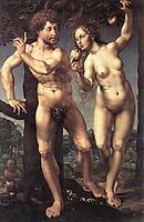 Adam and Eve in Paradise, c.1527, mabuse