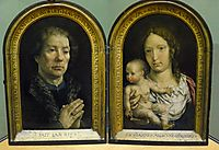 The Carondelet Diptych: Jean Carondelet (left panel), Virgin and Child (right panel), 1517, mabuse