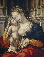 Madonna and Child, 1527, mabuse