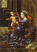 Madonna and Child, c.1532, mabuse