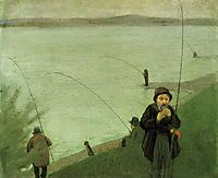 Anglers on the Rhine, 1907, macke