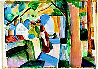 At the cemetery, macke