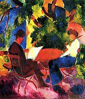 At the Garden Table, 1914, macke