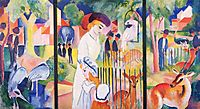 Big Zoo, Triptych, 1913, macke