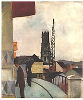 Catedral of Freiburg in the Switzerland, 1914, macke